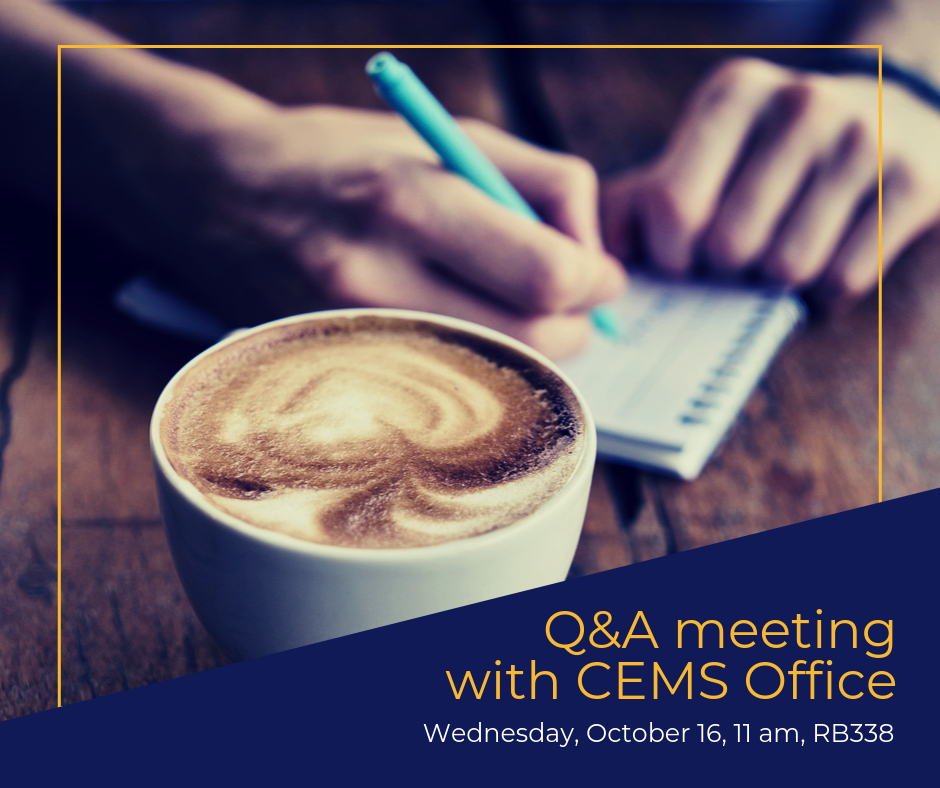 Late-breakfast Q&A meeting with CEMS Office