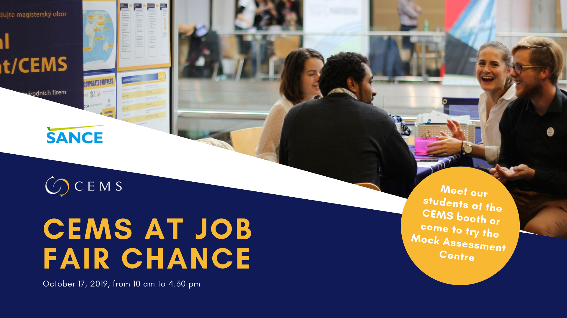 CEMS Mock Assessment Centre at Job Fair Šance – October 17, 2019