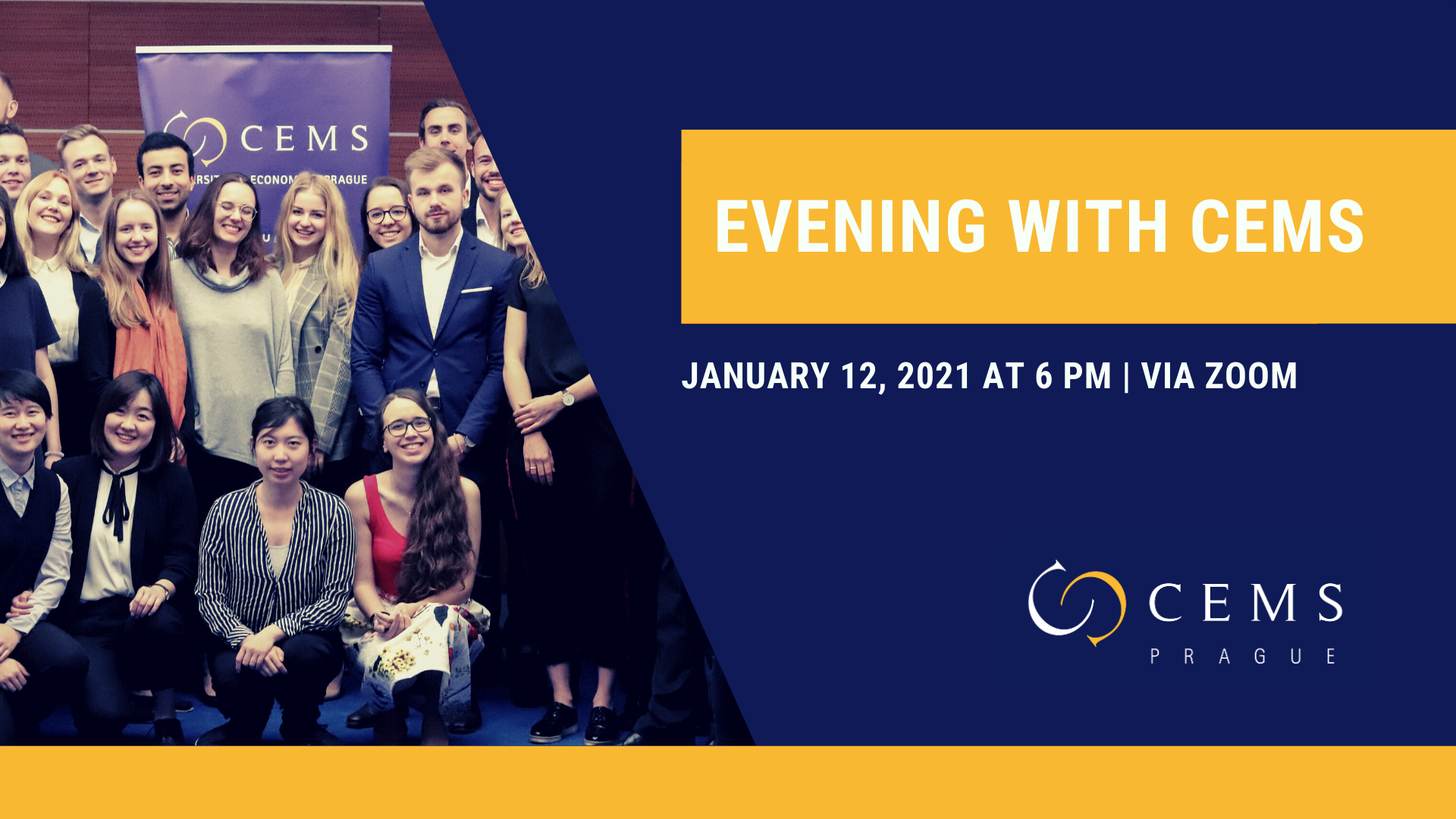 Interested in CEMS? Join Us for Evening with CEMS /January 12, 2021/