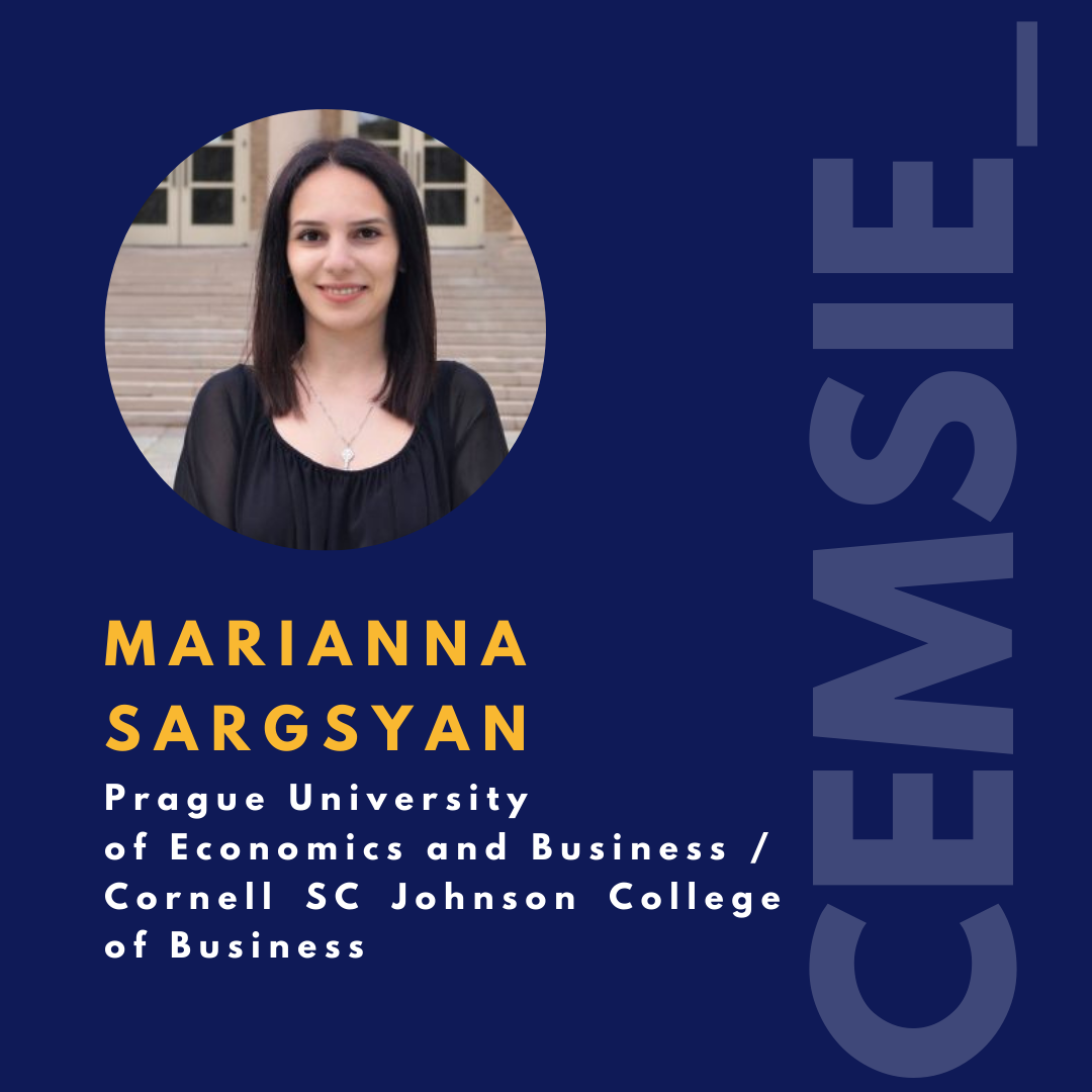 Marianna Sargsyan - First CEMS VSE Student to Attend Cornell