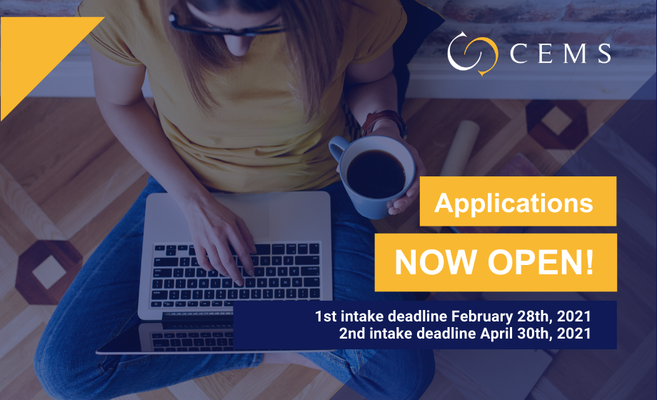 1st Intake Application Deadline on February 28, 2021