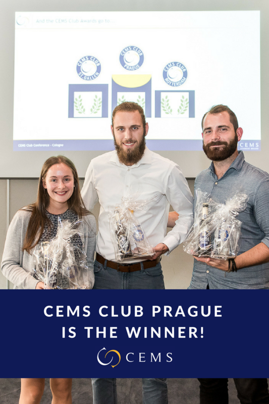 CEMS Club Prague Is the Best Club in the CEMS Alliance