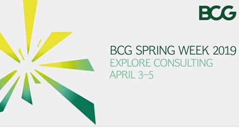 BCG Spring Week 2019